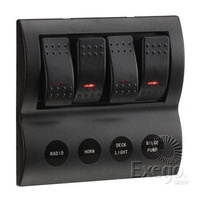 4-Way L.E.D Switch Panel with Fuse Protection (63190)