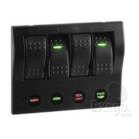 4-Way L.E.D Switch Panel with Circuit Breaker Protection (63191)
