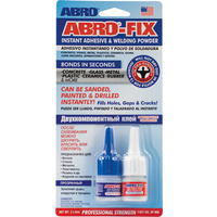 ABRO-Fix Instant Adhesive & Welding Powder 2 X 5mL AF-005