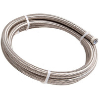 Aeroflow #6 NYLON BRAIDED A/C HOSE STAINLESS OUTER 1 METER LENGTH AF800-06-1M