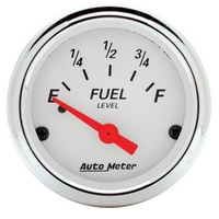 Arctic White Series Fuel Level Gauge - Empty/90 ohms Full (AU1315)