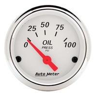Arctic White Series Oil Pressure Gauge - 0-100 psi (AU1327)