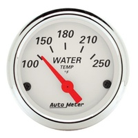 Arctic White Series Water Temperature Gauge - 100-250°F (AU1337)
