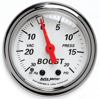 Arctic White Series Boost/Vacuum Gauge (AU1372)