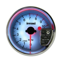 Autotecnica 3 3/4 Rpm Tacho Built In Shift Light Gauge With 7 Colour Display Lighting G825G7