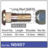 NICE PRODUCTS Stud & Nut NS467 NS467