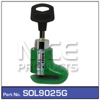 NICE PRODUCTS Motorcycle Disc Lock Green SOL9025G SOL9025G
