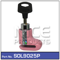 NICE PRODUCTS Motorcycle Disc Lock Pink SOL9025P SOL9025P