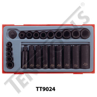 16 Pce 1/2″ Dr Regular & Deep Impact Socket Set (TT9116)