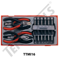 16 Pce Mini Plier, TX Driver and Screwdriver Set (TTMI16)
