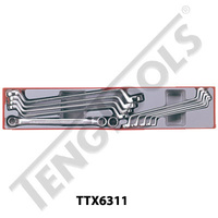 11 Pce Metric Double Ring Spanner Set (TTX6311)
