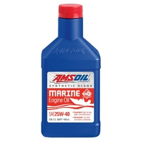 AMSOIL 20W-40 Synthetic-Blend Marine Engine Oil QT WCMQT