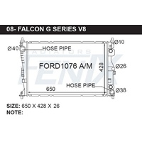 Fenix FG FALCON 6CLY & V8 HAS OIL COOLER IN RADITOR PLEASE CHECK With Customer FORD1076-PA26A